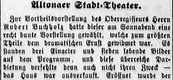 Facsimile of extracts from a review of the performance of Der Trompeter von Sakkingen with the music by Mahler in 1889 (Hamburger Nachtrichten, 29 April 1889 (Abend-Ausgabe), 1)