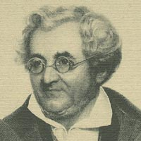 Friedrich Hofmeister (1782-1864): head and shoulders portrait (detail from an engraving)