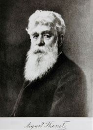 b&w copy of a ?painted portrait of August Thonet (1829–1910)