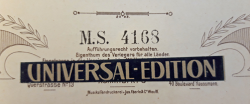 Colour photograph of the sticker over the publisher's imprint on the A-Wn copy of this issue.